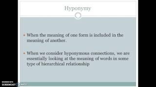 Semantics - Lexical Relations by Aryan Alfa