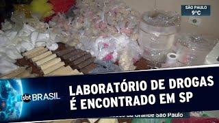 Polícia descobre laboratório usado para produção de drogas em SP | SBT Brasil (06/07/19)