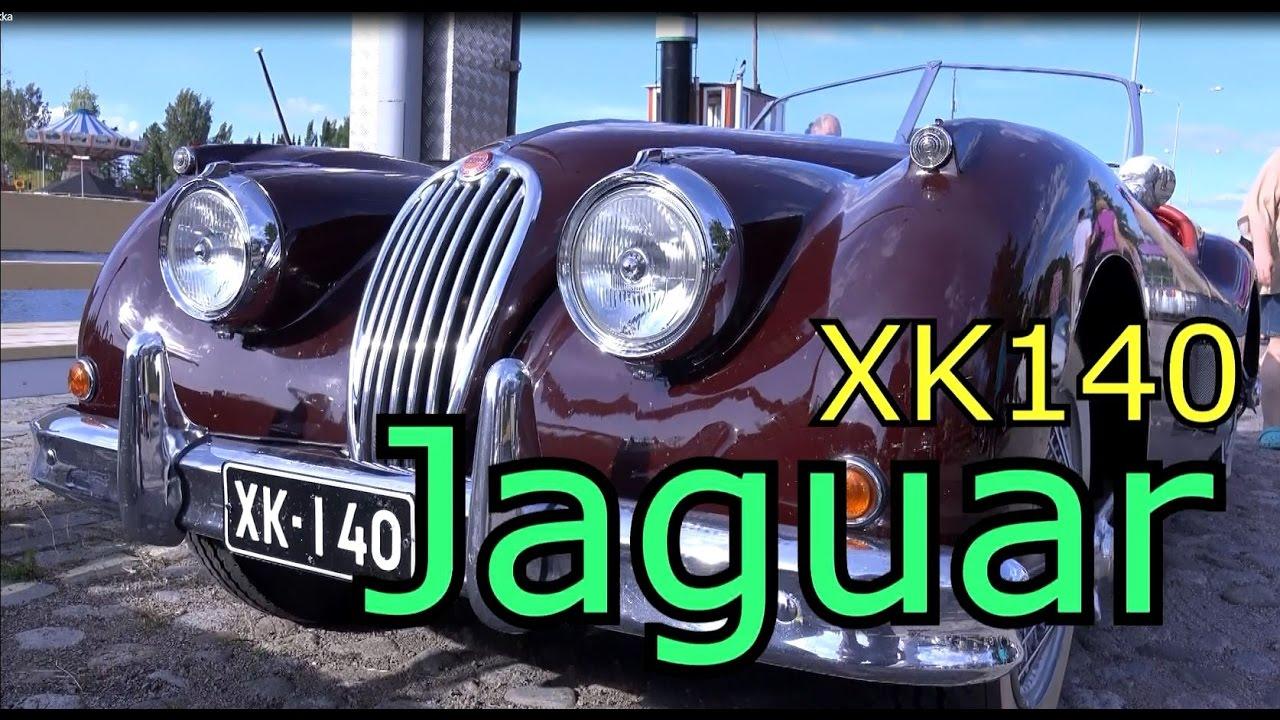 Jaguar XK140 Roadster old classic sport car - YouTube