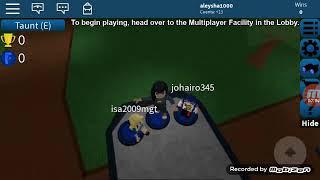 Playing roblox (flool escape)