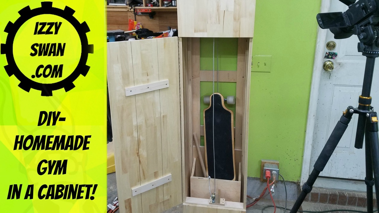 Diy homemade gym in a cabinet youtube solutioingenieria Choice Image
