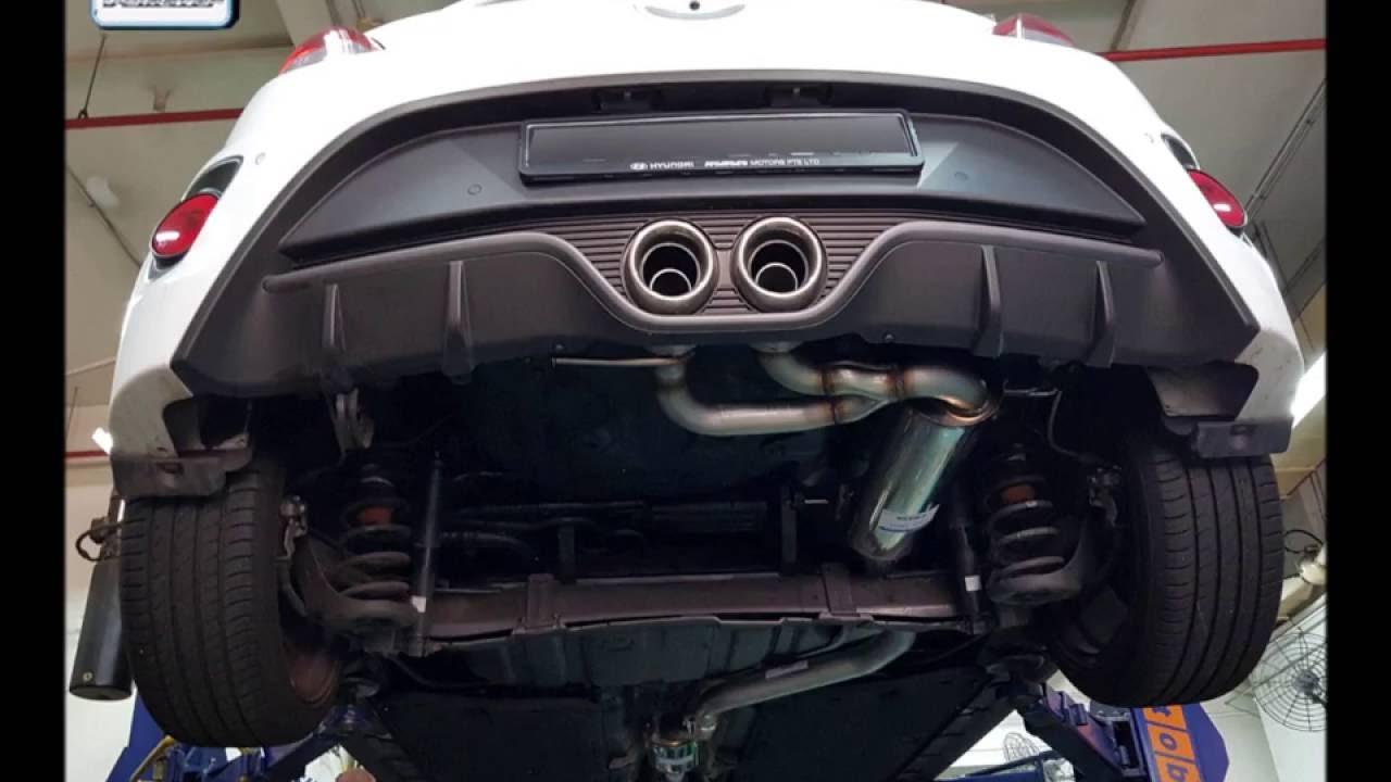 hyundai veloster fs 1 6 t gdi 2016 w bastuck exhaust system