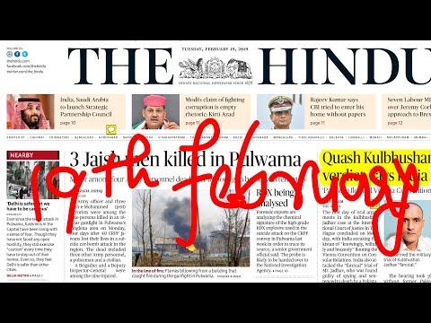The Hindu Newspaper 19th February 2019
