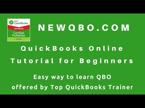 QuickBooks Online Tutorial for Beginners – learn how to use QBO easy way