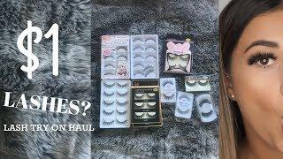 LASHES FOR UNDER $1??? /// Aliexpress and eBay eyelash try on haul