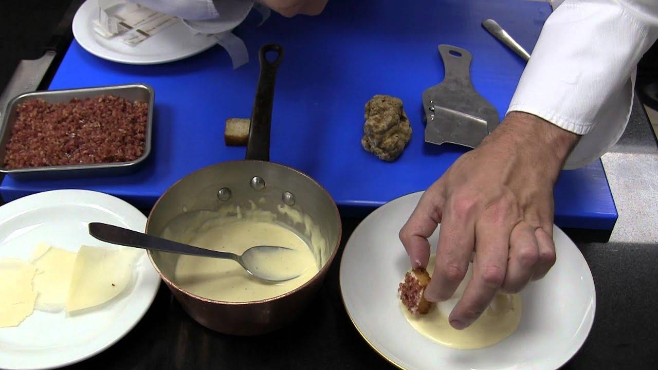 3 Michelin star Yannick Alléno prepares truffles