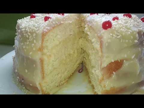 Супер простой Бисквитный пирог с заварным кремом. Всегда ВОЗДУШНЫЙ!