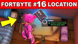 found in a desert house with too many chairs fortnite fortbyte 16 location guide
