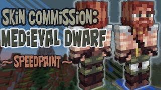 Skin Commission: Medieval Dwarf | SpeedPaint