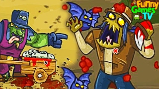 УНИЧТОЖИЛ БОССА мульт игра про зомби приключения в игре про ЗОМБИ GIBS