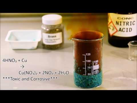 Measuring the copper content of Brass (Dissolving copper with nitric acid) HD