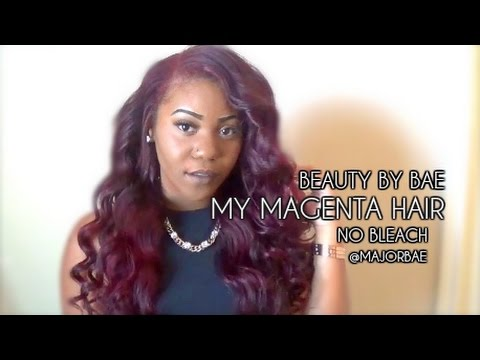 L Oreal Hi Color Magenta Red No Bleaching Youtube