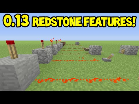 Minecraft PE - 0.13.0 Update - New REDSTONE Features!