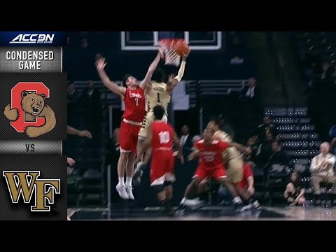 Cornell vs. Wake Forest Condensed Game | 2018-19 ACC Basketball