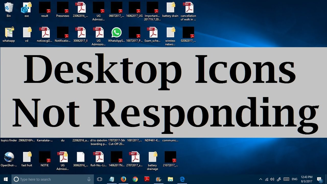 unable to click on desktop icons in windows 10 desktop items not