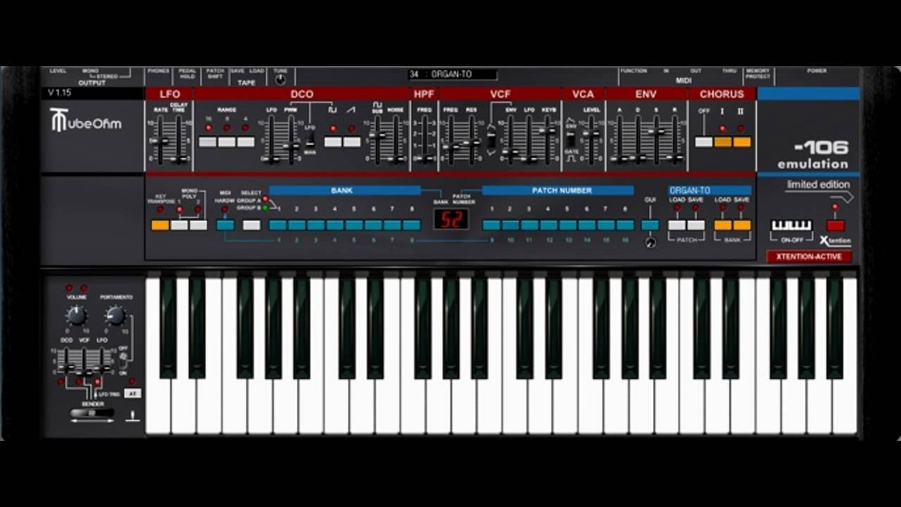 TubeOhm Roland Juno 106 VST Emulation