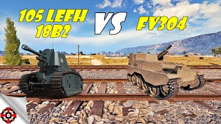 World of Tanks - 105 LeFH18B2 vs FV304 DAMAGE RECORD! (WoT gameplay)
