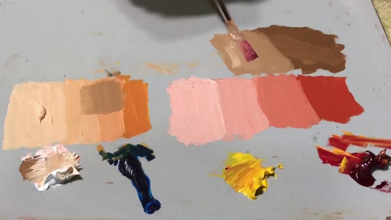 كيفية خلط الالوان وتكوين لون الجلد او البشرة Youtube