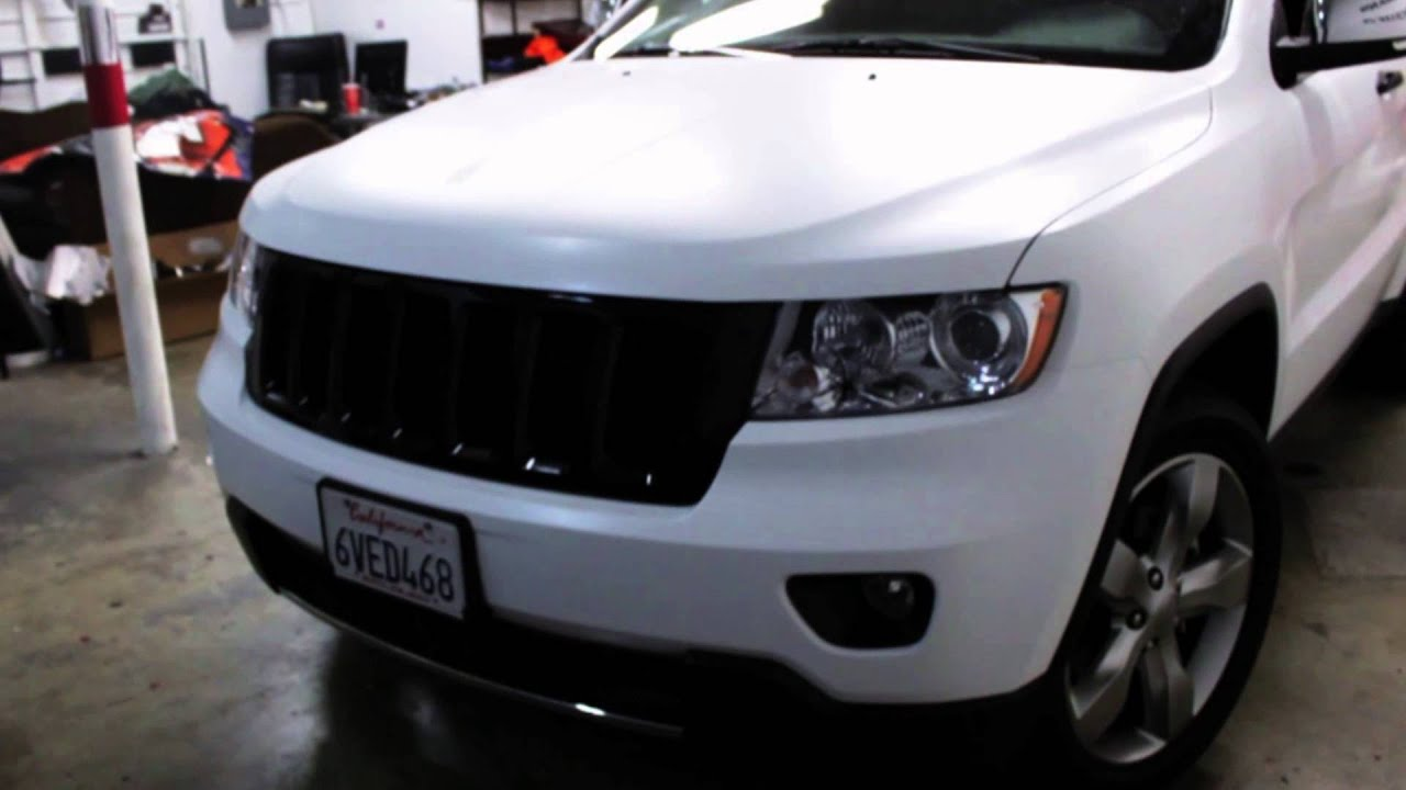 2012 Jeep Grand Cherokee Wrapped In Satin Laminated White