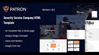 Patron   Security Service Company HTML Template   Themeforest Website Templates and Themes