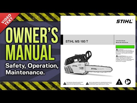 Owner's Manual: STIHL MS 193 T Chain Saw - YouTube