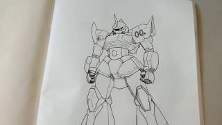 How to draw a Gundam 101 : MS-14 Gelgoog