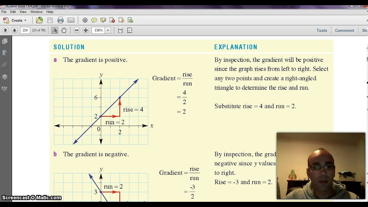 How To Calculate The Gradient Of A Linear Relation Using Rise Over