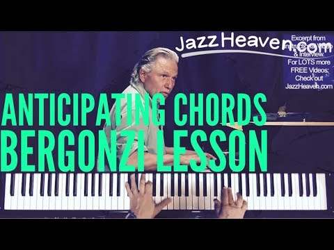Jerry Bergonzi Lessons *Anticipating Chords*  JAZZHEAVEN.COM Excerpt