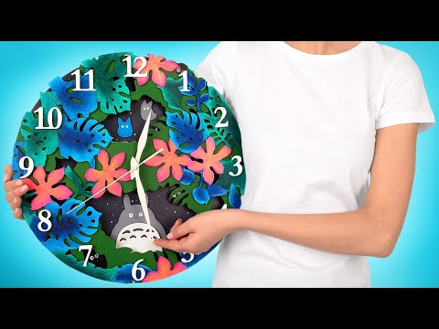"""Making A Clock In The Style Of Animated Film """"My Neighbor Totoro"""""""