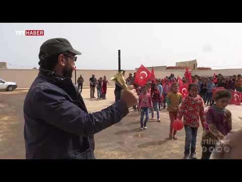 YPG/PKK'nın baskısı nedeniyle okula gidemeyen çocuklar, sınıflarına kavuştu.