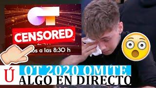 Lo que OT 2020 no quiso que viéramos: Hugo rompe a llorar y se apaga Operación Triunfo