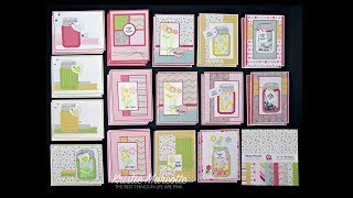 Queen & Co Love Jar kit - 40 cards from one 6x6 paper pad