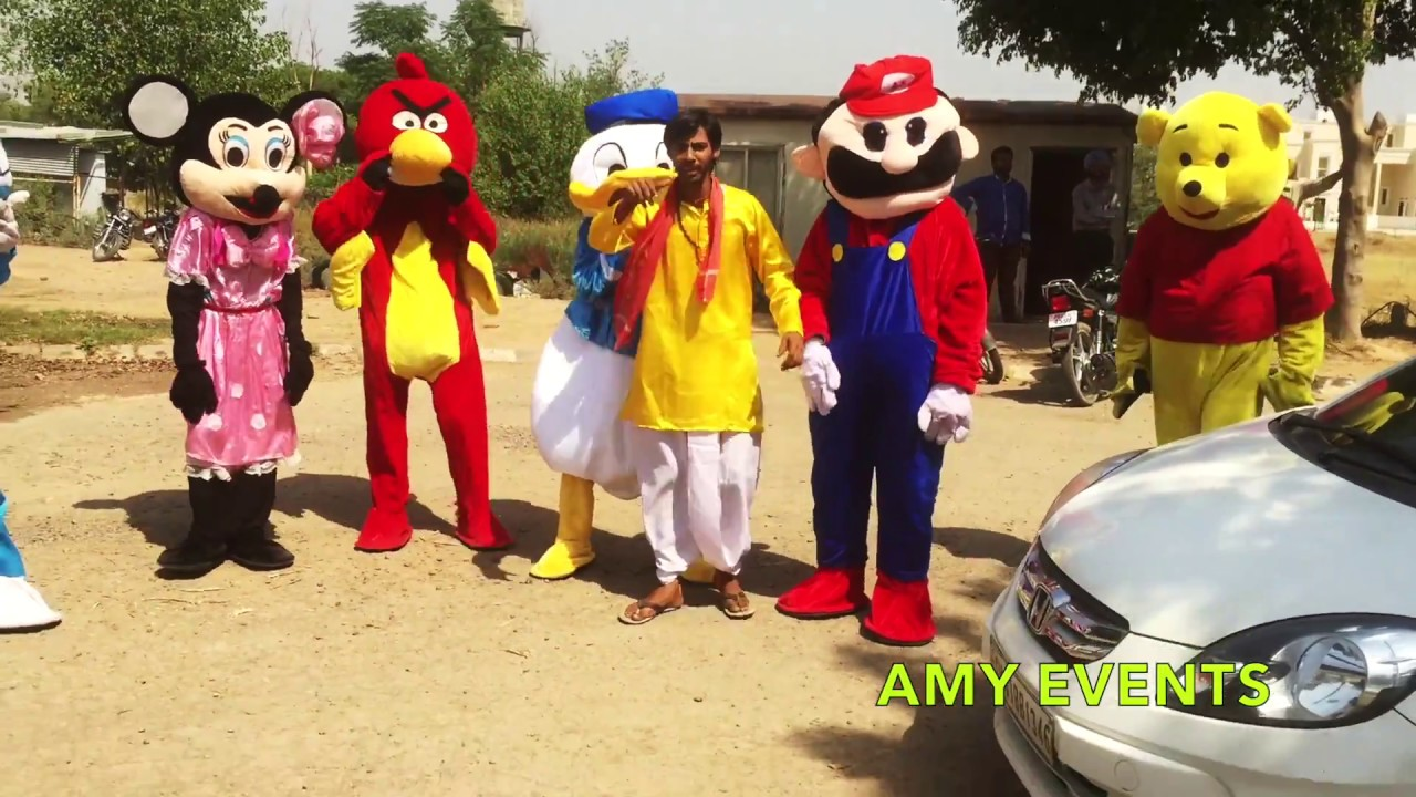 be5c93dad Professional Character Mascots by Team Amy Events - India - YouTube