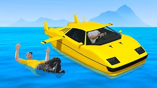 I Kicked Him Out My Submarine Car Deep In The Ocean! (GTA RP)