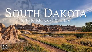 South Dakota 4K Relaxation Film | Mt. Rushmore Aerial Drone | Badlands National Park & Calming Music