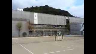 学校耐震補強工事 諫早市 飯盛中学校 現場風景