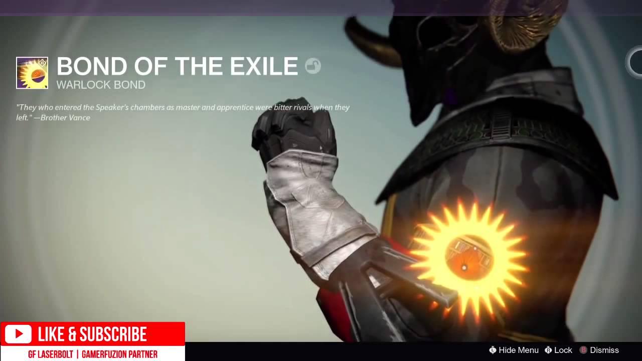 Destiny bond of the exile legendary trials of osiris warlock bond