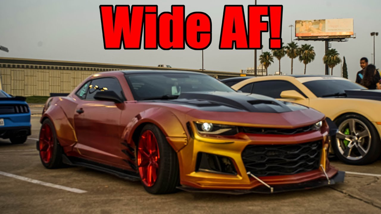 INSANE WIDEBODY CAMARO SHUTS DOWN SMALL CAR MEET!