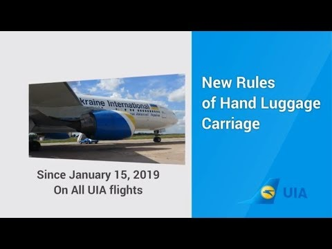 Hand Luggage, Cabin Baggage Carriage Rules On Ukraine International Airlines Flight UIA