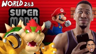super mario run punched bowser in the nose world 2 3