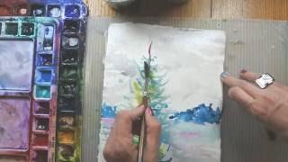 Adventurous Watercolor: Painting Trees (Studio Warm Up) with Angela Fehr