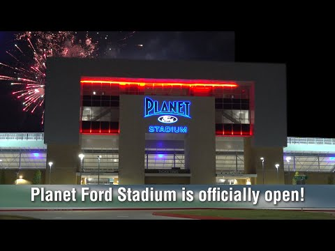 Cutting the Ribbon at Planet Ford Stadium!
