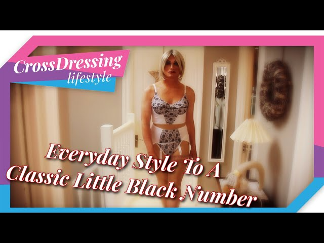 Crossdressing outfits of the day - Plain Jane meets the lady in black two for the price of one.