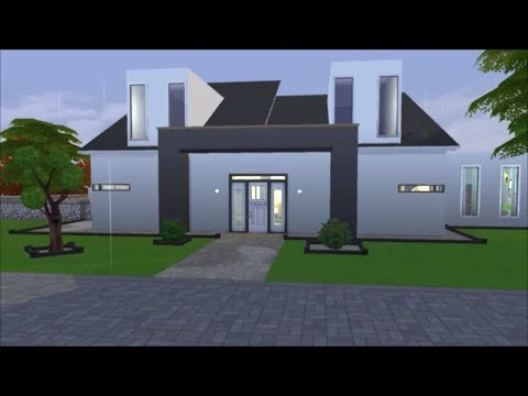 Sims 4 Speed Build Modern Family Home 2 No Cc Youtube