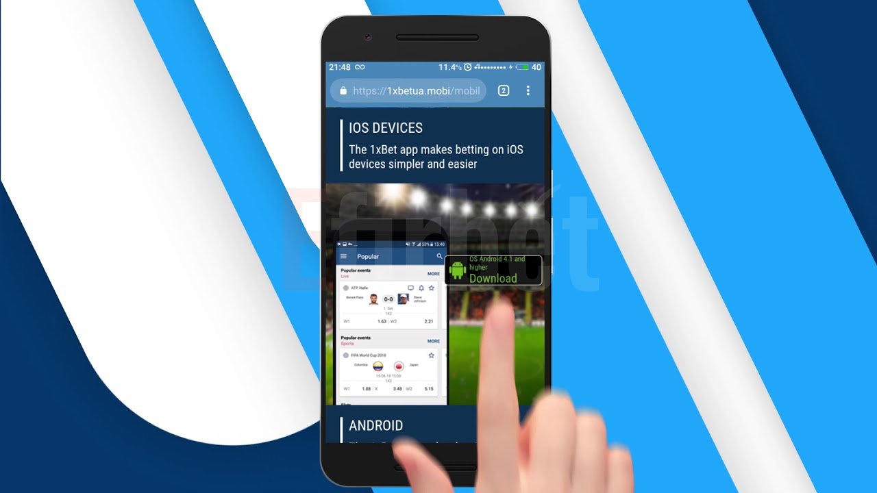 How to Download 1XBET Android App and Install it (Steps) - YouTube