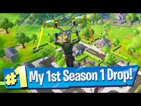 My First Chapter 2 Season 1 Drop - Fortnite Battle Royale