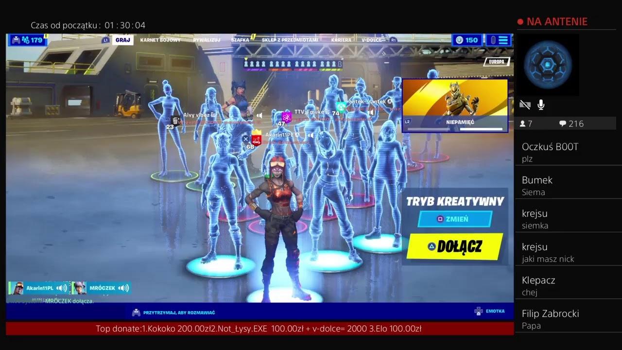 Fortnite Gry z widzami Solo Live kreatywny pl