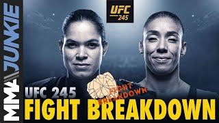 UFC 245 fight breakdown: Amanda Nunes vs  Germaine DeRandamie