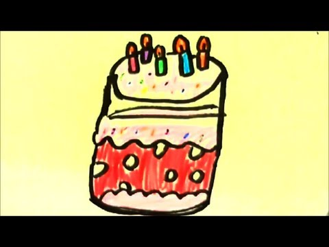 how to draw a cartoon cake