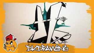 Graffiti Alphabet Tutorial - How to draw graffiti letters - Letter H